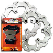 Yamaha Front + Rear Brake Rotor +Pads WR250 F 4T (2003-2013) WR450 F (2003-2011)