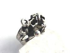 Vintage Ring 925 Silber Israel 60-70 er Jahre Modernist Boho