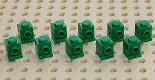 Lego 10x Green Brick, Modified 1x1 Headlight (4070) NEW!