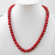 Natural red coral 8-10mm irregular cube abacus rondelle beads jewelry necklace