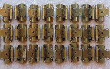 "12 Pair (24 Hinges) Partial Wrap Self Closing Cabinet Hinge 1/2"" Overlay"
