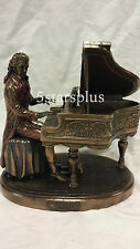 NEW Wolfgang Amad Mozart Playin Piano Statue Sculpture Figurine SHIP Immediately