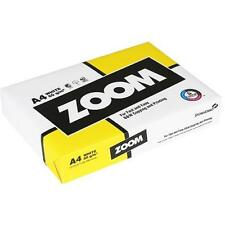White 80g A4 Zoom Copy Inkjet Laser Copier Paper 5 Reams BNIB