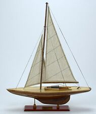 "Dragon Nature Finish 20"" Handmade Wooden Sailboat Model"
