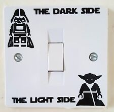Star Wars Dark Light Side Switch Vinyl Decal Sticker Child Room Lightswitch Lego