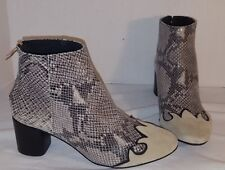 ANTHROPOLOGIE FREE PEOPLE ADELLE SNAKESKIN COMBO SUEDE ANKLE BOOTS US 9 EUR 39