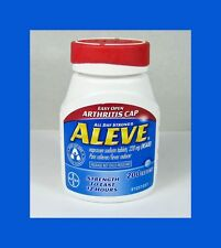 Aleve Pain Reliever/Fever Reducer Naproxen Sodium Tablets, 220mg, 200 ct - USA