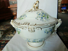 Large 19th century Hand Painted Davenport Soup Tureen