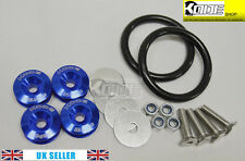 KODE BLUE Bumper Quick Release Kit Fasteners Loop Rings Trunk Fender Universal
