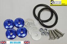 KODE BLUE Bumper Quick Release Kit Fasteners Loop Rings Trunk Fender Universal