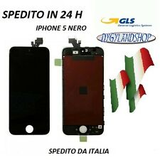 LCD DISPLAY RETINA  PER IPHONE 5 5G NERO SCHERMO+VETRO TOUCH SCREEN FRAME