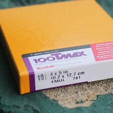 4x5 Film - Kodak TMax 100 (1 Box - 10 Sheets - Fresh dated)