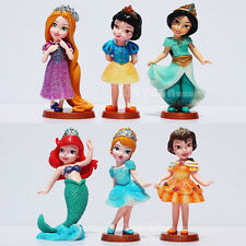 6 DISNEY PRINCESS CINDERELLA SNOW WHITE ACTION FIGURE KID DISPLAY FIGURINES TOY