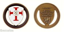 "PROVERBS 28:1 PRAYER WICKED FLEE BOLD AS A LION 1.75"" CHALLENGE COIN"