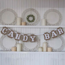 1 CANDY BAR Hanging Sign Banner Rustic Wedding Bunting Birthday Party Decoration