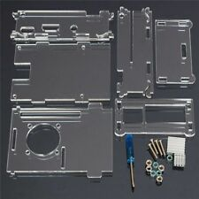 Transparente Acrílico Caja Case 2 Disipador Destornillador para Raspberry pi3 B+
