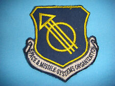 BE PATCH US AIR FORCE  SPACE & MISSILE SYSTEMS ORGANIZATION