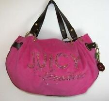 Juicy Couture Pink Terry Cherry Day Fluffy Satchel Bag #YHRUS936 NWT