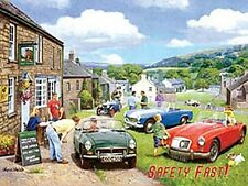 Classic Car Gathering 'Safety Fast' fridge magnet