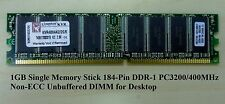 1GB Single Stick 184-PIN DDR PC-3200/400MHz Non-ECC SDRAM DIMM For Desktop