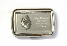 Indian Headress Tobacco Hand Rolling Ups Cigarette Tin FREE ENGRAVING India Gift