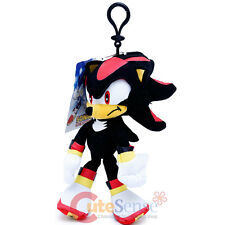 "Sonic The Hedgehog Shadow Plush Doll Key Chain Coin Bag Clip On 8"" Soft Plush"
