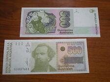 Argentinien -  500  Austral  #328   unc.