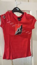 OFFICIAL ALPINESTARS WOMENS T SHIRT CLOTHING SIZE UK EXTRA SMALL XS NEW