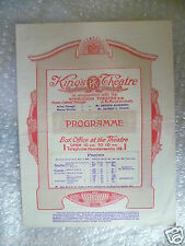 1923 King Theatre Programme KING HENRY THE FOURTH- Frank Darch,D Green,O Crombie