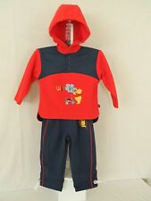 DISNEY WINNIE THE POOH 2 PIECE HOODED OUTDOOR SUIT : RED/NAVY : 23 MONTHS