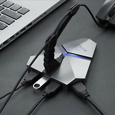 3 Ports USB 3.0 Combo TF Card Reader High Speed USB HUB for Gaming Mouse Lines