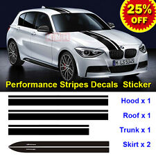 M Performance Hood Roof Trunk Skirt Stripe Decals Vinyl for BMW E87 F20 F21