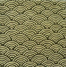 Seigaiha Moss Green Japanese Cotton Fabric Per Half Metre 50cm - CF106