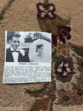 k2-6  ephemera 1966 picture wedding philip perry mary ingram tilbury essex