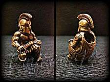*SPARTAN* UNIQUE HANDMADE Bronze Paracord Knife Leather Lanyard Bead / Beads