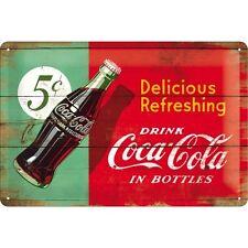DRINK COCA COLA (2) * BAR KNEIPE * WERBE BLECHSCHILD * NOSTALGIE * 20X30 * NEU!