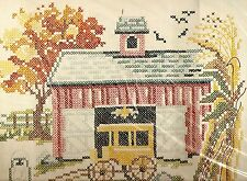 "Vintage Paragon ""A Place in the Country"" Stamped Linen Cross Stitch Sampler Kit"