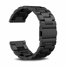 SABLE BLACK STEEL Wristband Band Strap Bracelet Accessories For SAMSUNG GEAR S3