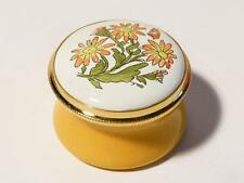 CALENDULA OCTOBER Month Flower Staffordshire Enamels Ring Pill Box Boxed #21