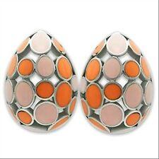 Boucles d'oreilles seventies tendance en acier 316L et epoxy, bijou femme neuf