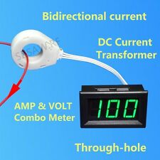 DC Current Transformer Hall Sensor Bidirectional Current 120V ± 50A Combo Meter