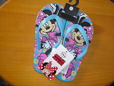 Disney s Minnie Mouse Girl`s Flip Flops Sandals Beach Shoes kidz size 9.5-10.5