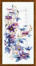 "Counted Cross Stitch Kit RIOLIS - ""Clematis"""
