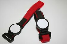 4 x NFC TAG Wristband Red Velcro NXP NTAG213  Android Samsung Sony Nokia HTC