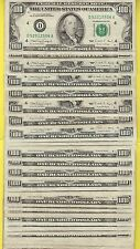 FEDERAL RESERVE NOTE ONE HUNDRED DOLLAR BILLS..OLD CURRENCY..SMALL HEADS..$100.