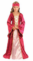 Medieval Tudor Girl Renaissance Princess Queen Costume Gown Outfit New 4-6-8-10