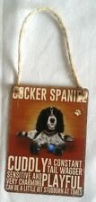 NEW Retro Mini Metal Cocker Spaniel Dog Sign Hanging Decoration 6.5x9cm NOP&P