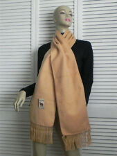 NEW Peru Luxurious Fringed Solid Beige / Khaki Alpaca Long Scarf Soft and Warm