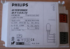 Ballast électronique philips hf-performer hf-p 118 pl-t/c-bn!