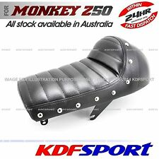 KDF SEAT BLACK LONG LEATHER CAFE STYLE FOR HONDA MONKEY Z50 Z50J Z50R